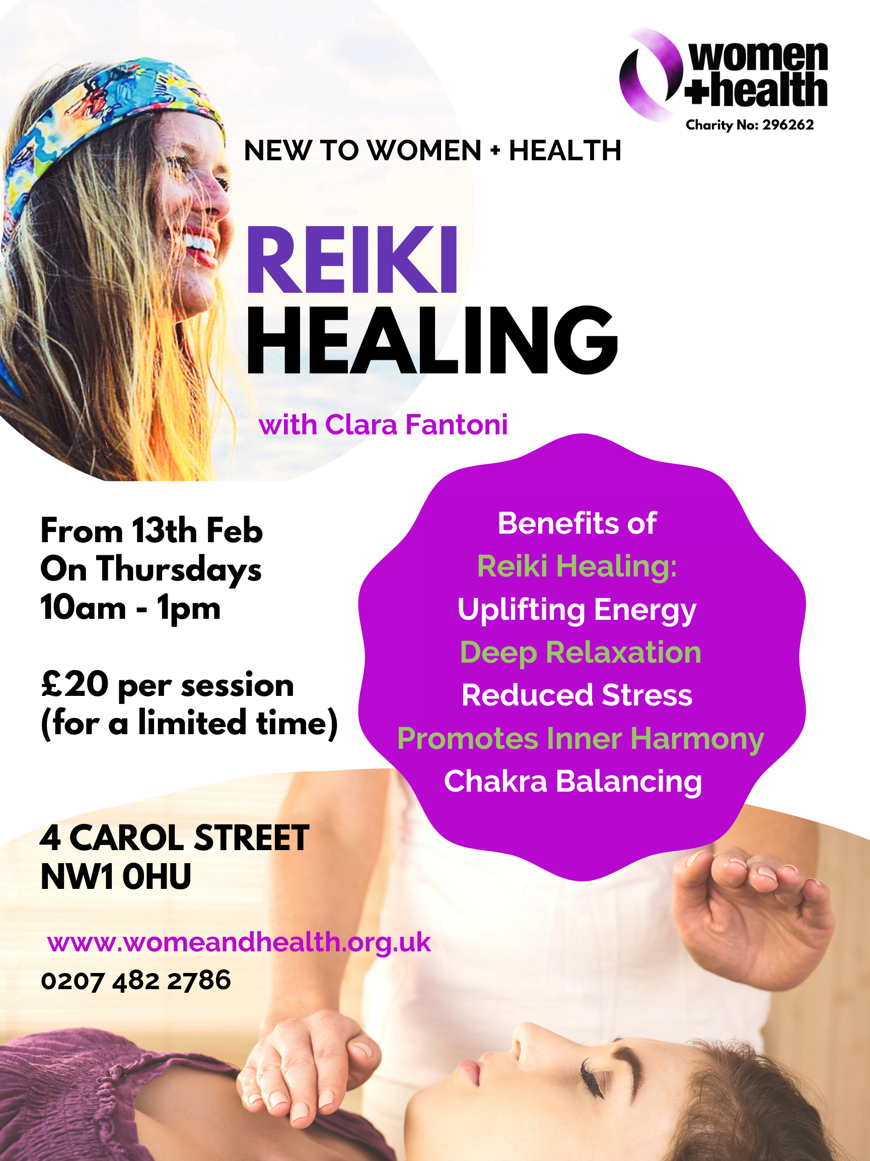 New! Reiki Healing on Thursdays
