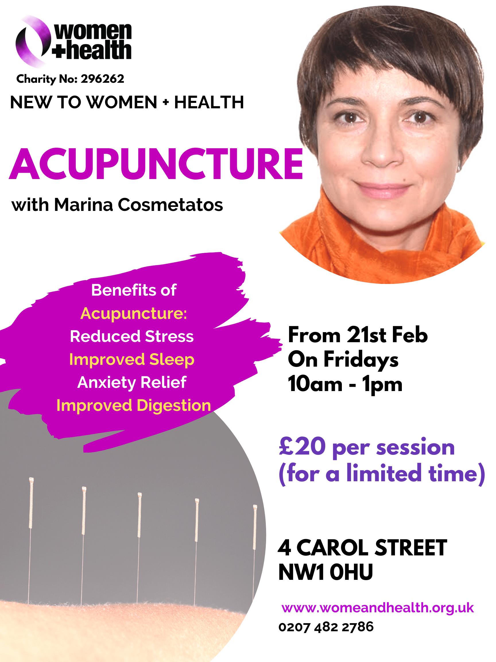 New! Acupuncture Volunteer on Fridays